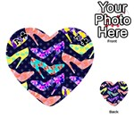 Colorful High Heels Pattern Playing Cards 54 (Heart)  Front - ClubA