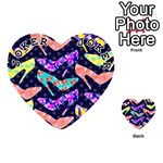 Colorful High Heels Pattern Playing Cards 54 (Heart)  Front - Joker1
