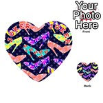 Colorful High Heels Pattern Playing Cards 54 (Heart)  Front - Joker2