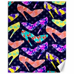 Colorful High Heels Pattern Canvas 11  X 14