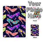 Colorful High Heels Pattern Multi-purpose Cards (Rectangle)  Back 38