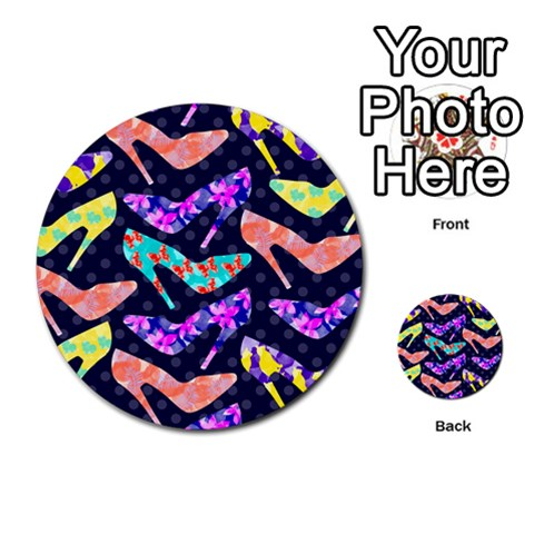 Colorful High Heels Pattern Multi-purpose Cards (Round)
