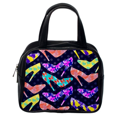 Colorful High Heels Pattern Classic Handbags (One Side)