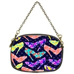 Colorful High Heels Pattern Chain Purses (One Side)  Front
