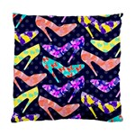 Colorful High Heels Pattern Standard Cushion Case (Two Sides) Back