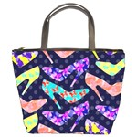 Colorful High Heels Pattern Bucket Bags Front