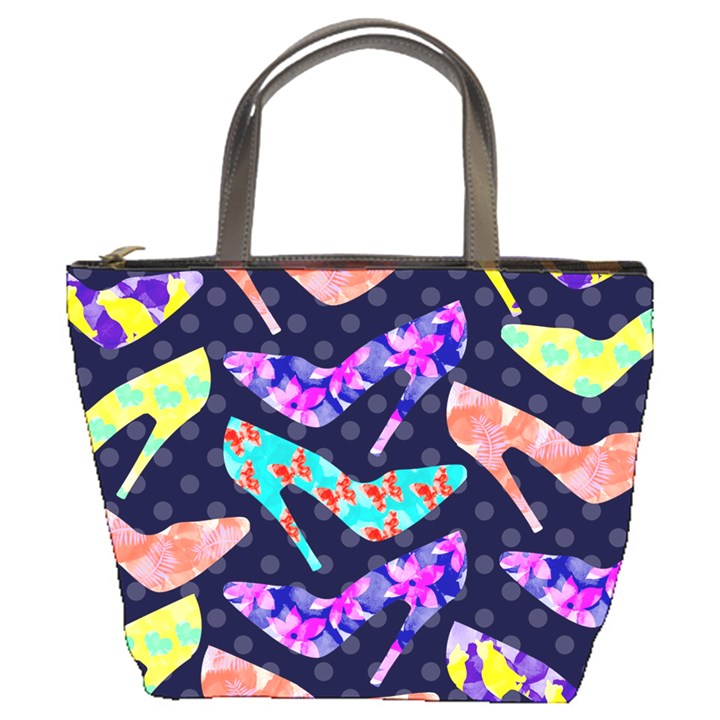 Colorful High Heels Pattern Bucket Bags