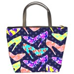 Colorful High Heels Pattern Bucket Bags Back