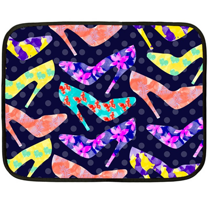 Colorful High Heels Pattern Fleece Blanket (Mini)