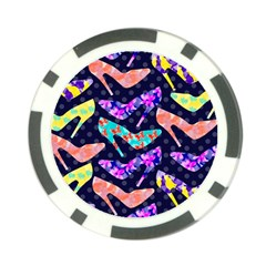 Colorful High Heels Pattern Poker Chip Card Guards (10 pack)