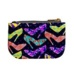 Colorful High Heels Pattern Mini Coin Purses Back