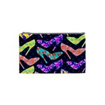 Colorful High Heels Pattern Cosmetic Bag (Small)  Front