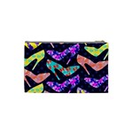 Colorful High Heels Pattern Cosmetic Bag (Small)  Back