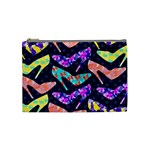 Colorful High Heels Pattern Cosmetic Bag (Medium)  Front