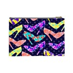 Colorful High Heels Pattern Cosmetic Bag (Large)  Back