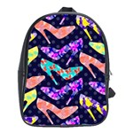 Colorful High Heels Pattern School Bags(Large)  Front