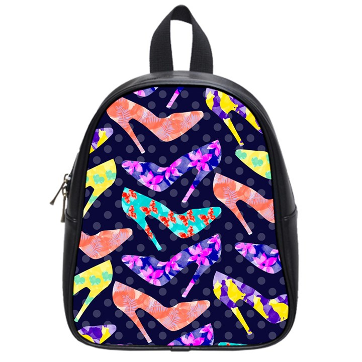 Colorful High Heels Pattern School Bags (Small)