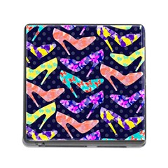 Colorful High Heels Pattern Memory Card Reader (Square)