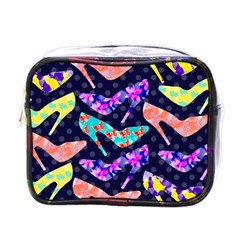 Colorful High Heels Pattern Mini Toiletries Bags