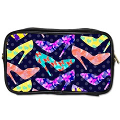 Colorful High Heels Pattern Toiletries Bags