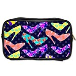Colorful High Heels Pattern Toiletries Bags Front