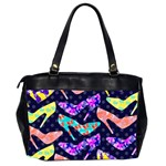 Colorful High Heels Pattern Office Handbags (2 Sides)  Back