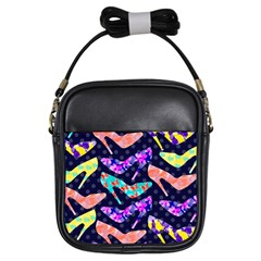 Colorful High Heels Pattern Girls Sling Bags