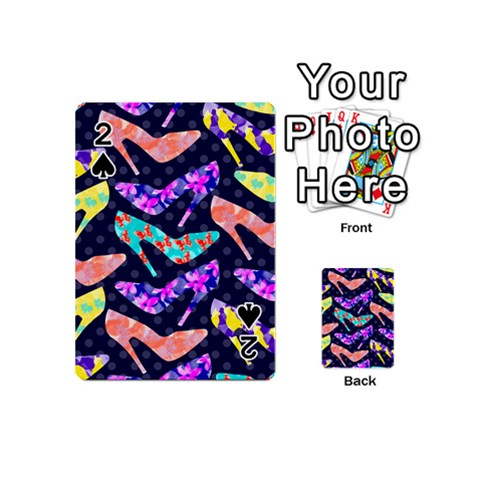 Colorful High Heels Pattern Playing Cards 54 (Mini)