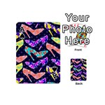 Colorful High Heels Pattern Playing Cards 54 (Mini)  Front - SpadeA