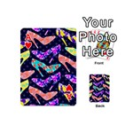 Colorful High Heels Pattern Playing Cards 54 (Mini)  Front - HeartA
