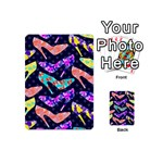 Colorful High Heels Pattern Playing Cards 54 (Mini)  Back