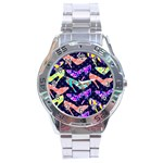 Colorful High Heels Pattern Stainless Steel Analogue Watch Front