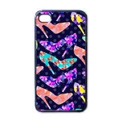 Colorful High Heels Pattern Apple Iphone 4 Case (black)