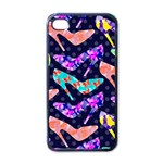 Colorful High Heels Pattern Apple iPhone 4 Case (Black) Front