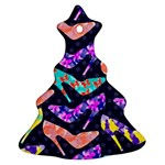 Colorful High Heels Pattern Ornament (Christmas Tree) Front