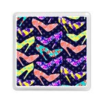 Colorful High Heels Pattern Memory Card Reader (Square)  Front