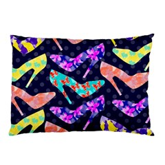 Colorful High Heels Pattern Pillow Case (two Sides)