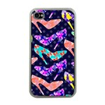 Colorful High Heels Pattern Apple iPhone 4 Case (Clear) Front