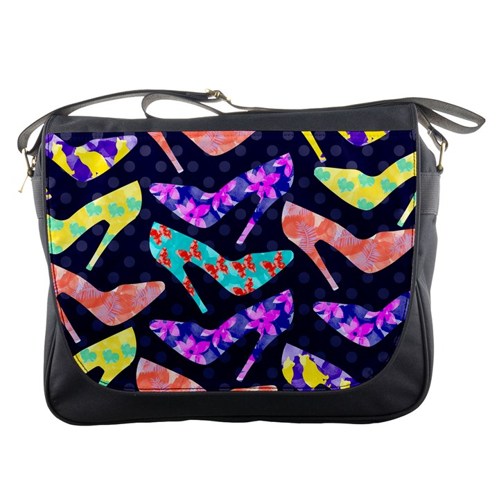 Colorful High Heels Pattern Messenger Bags