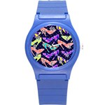Colorful High Heels Pattern Round Plastic Sport Watch (S) Front
