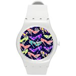Colorful High Heels Pattern Round Plastic Sport Watch (M) Front