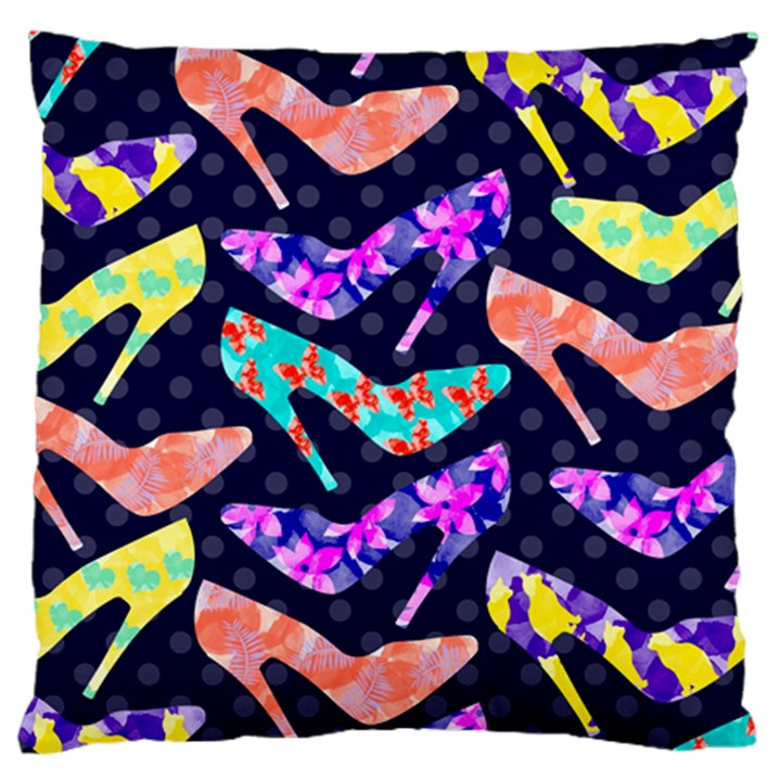 Colorful High Heels Pattern Large Cushion Case (One Side)
