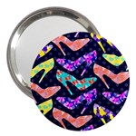 Colorful High Heels Pattern 3  Handbag Mirrors Front