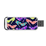 Colorful High Heels Pattern Portable USB Flash (One Side) Front