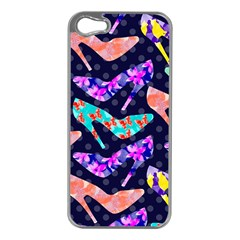 Colorful High Heels Pattern Apple iPhone 5 Case (Silver)
