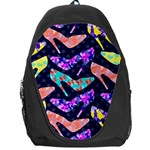 Colorful High Heels Pattern Backpack Bag Front