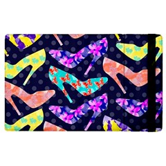 Colorful High Heels Pattern Apple Ipad 2 Flip Case
