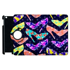 Colorful High Heels Pattern Apple Ipad 2 Flip 360 Case