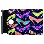 Colorful High Heels Pattern Apple iPad 2 Flip 360 Case Front