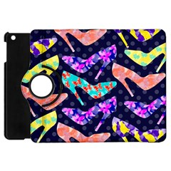 Colorful High Heels Pattern Apple iPad Mini Flip 360 Case